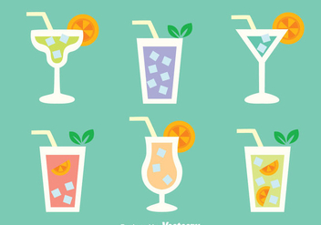 Glass Of Cocktail Menu Vectors - vector gratuit #433807