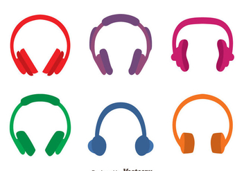 Colored Headphone Vectors - vector gratuit #433827