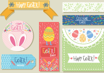 Fun Easter Gift Tags - vector gratuit #433897
