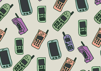 Vintage Telephone Pattern - Free vector #433947
