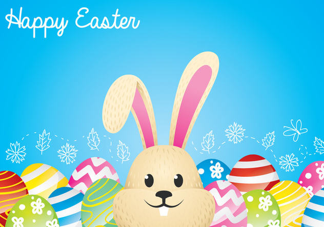 Easter Bunny Background - Free vector #433957