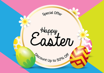 Easter Sale Background - Free vector #433967