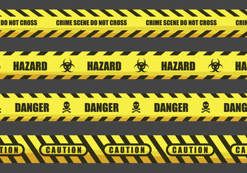 Caution and Danger Tape Illustrations - vector gratuit #433987
