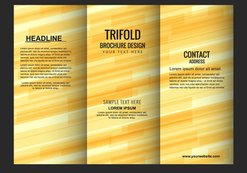 Free Vector Modern Trifold Brochure Template - Free vector #434047