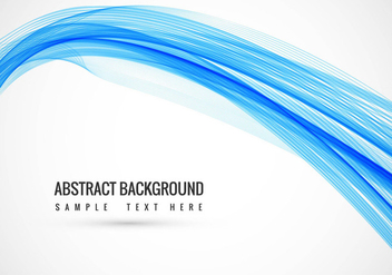 Free Vector Blue Wavy Background - Kostenloses vector #434067