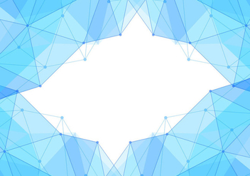 Free Vector Blue Polygon Background - Kostenloses vector #434087