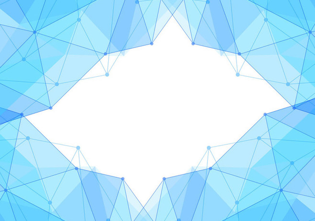 Free Vector Blue Polygon Background - Free vector #434087