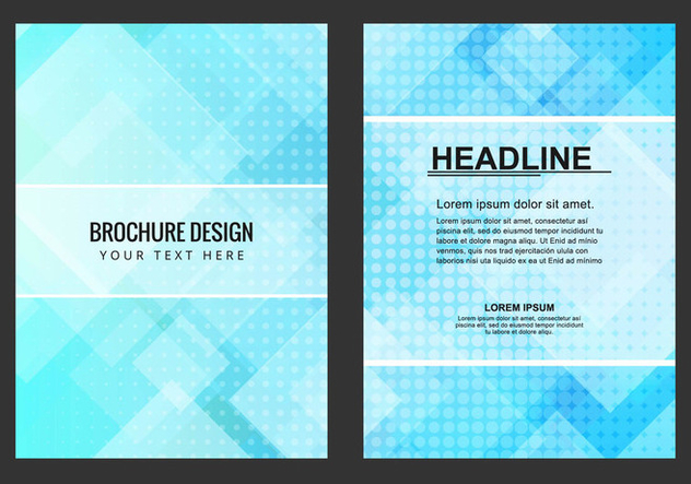 Free Vector Blue Business Brochure - vector gratuit #434097
