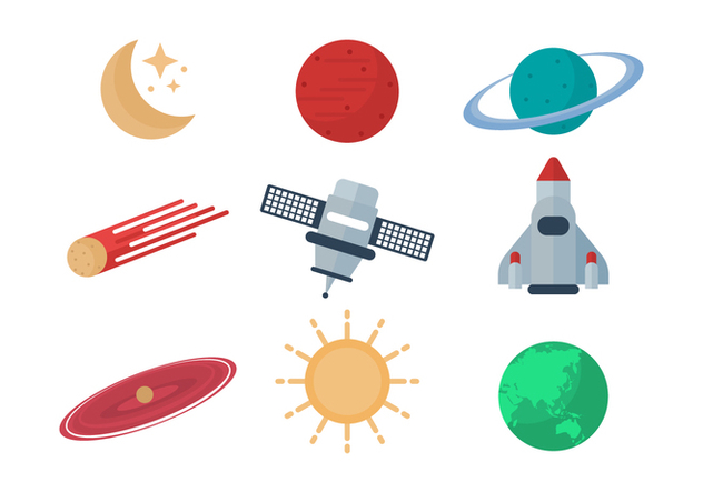 Free Astronomy Vector Icons - Free vector #434107
