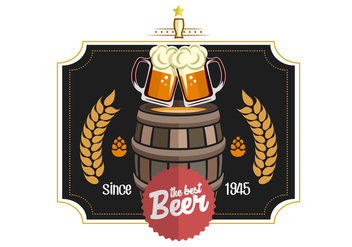Beer Label Vector - Free vector #434137