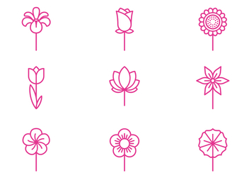 Flowers Icon - vector #434167 gratis