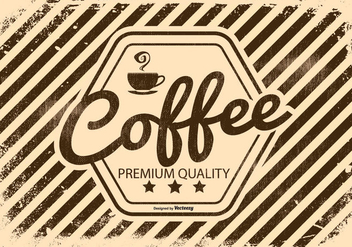 Vinatge Retro Coffee Illustration - Free vector #434207