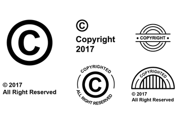 Flat Copyright Symbol Vector Set - Kostenloses vector #434217
