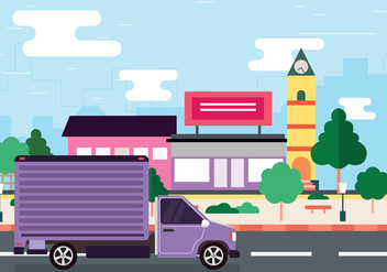 Moving to the City Vector - vector #434237 gratis