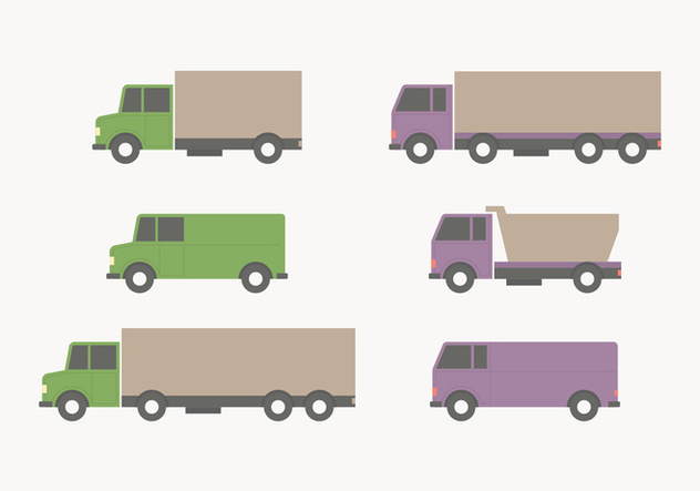 Flat Style Moving Van Collection - Free vector #434267