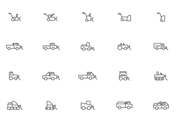 Winter Truck and Snow Blower Vectors - vector gratuit #434277