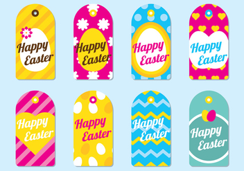 Happy Easter Tag - vector gratuit #434287