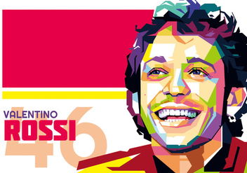 Valentino Rossi vector WPAP - Free vector #434297