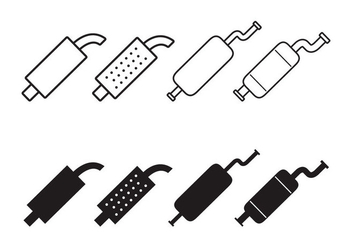 Muffler Icon Vector Set - Free vector #434317