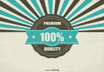 Promotional Retro Premium Quality Background - бесплатный vector #434327