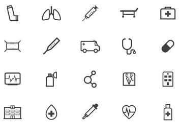 Free Medical Icon Vector Pack - vector gratuit #434347