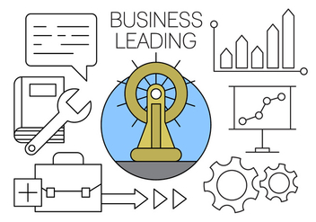 Business Leading Icons for Free in Minimal Designed Vector - vector gratuit #434597