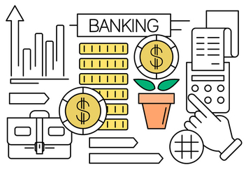 Vector Set of Finance an Banking Icons for Free - vector gratuit #434617