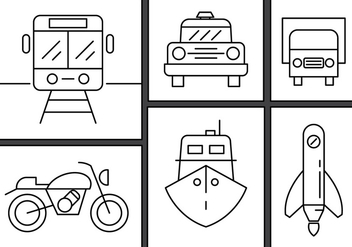 Free Linear Transportation Vectors - vector #434627 gratis