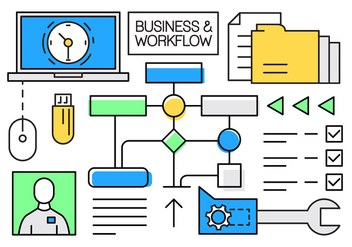 Free Linear Business and Workflow Elements - vector gratuit #434697