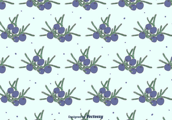 Hand Drawn Juniper Pattern - vector gratuit #434747