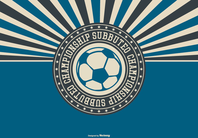 Subbuteo Meisterschaft Illustration Retro-Stil - Kostenloses vector #434777
