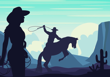 Gaucho Silhouette Background - Free vector #434797