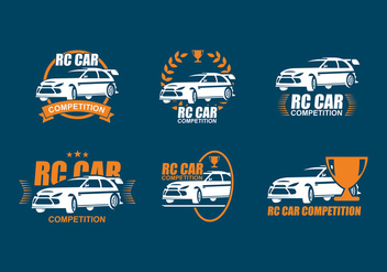 RC Car Competition Logo Free Vector - vector gratuit #434807