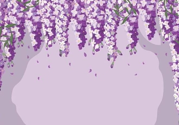 Wisteria Background Vector - бесплатный vector #434827