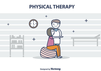 Free Physiotherapist Vector Illustration - Kostenloses vector #434877