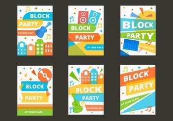 Free Block Party Template Poster Vector - vector gratuit #434887