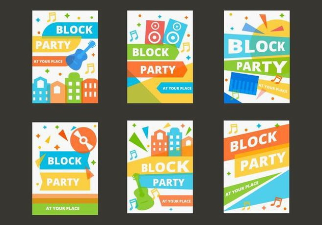Free Block Party Template Poster Vector - Kostenloses vector #434887
