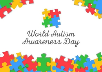 Free World Autism Awareness Day Background Vector - vector gratuit #434917