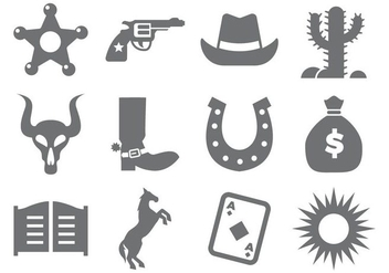 Free Cowboy Icons Vector - Free vector #434937