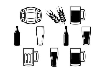 Free Beer Icon Vector - vector gratuit #434957