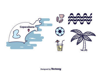 Copacabana Icons Set - бесплатный vector #434967