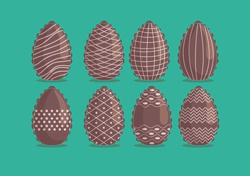Chocolate Easter Eggs Vector - vector gratuit #434977