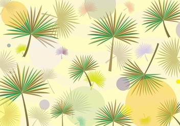 Palmetto Leaf Hipster Pattern Vector - бесплатный vector #434987