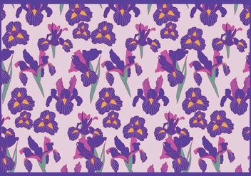 Iris Flowers Purple Vector - бесплатный vector #435027