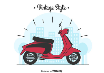 Lambretta Vector Background - vector gratuit #435047