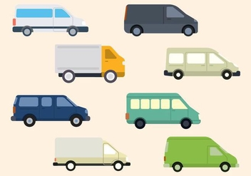 Flat Van Vector Collection - vector gratuit #435077
