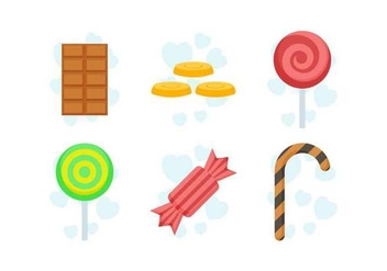 Free Delicious Sweet and Candies Vectors - Free vector #435087
