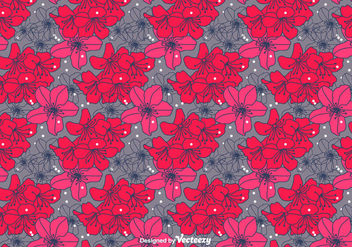 Hand Drawn Rhododendron Vector Pattern - бесплатный vector #435107