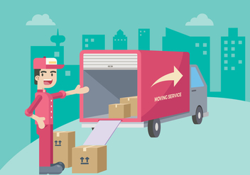 Moving Service Illustration - Free vector #435117