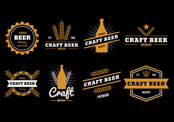 Free Beer Badge Vector Collection - Free vector #435227